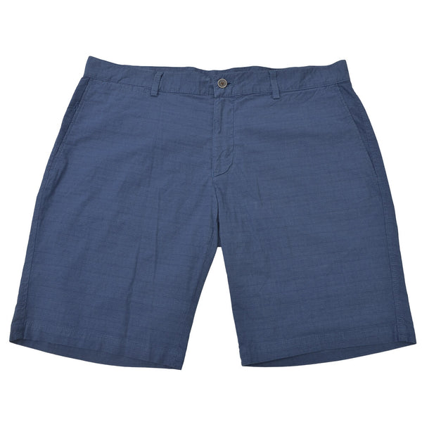 Light Airforce Blue Check Chino Shorts