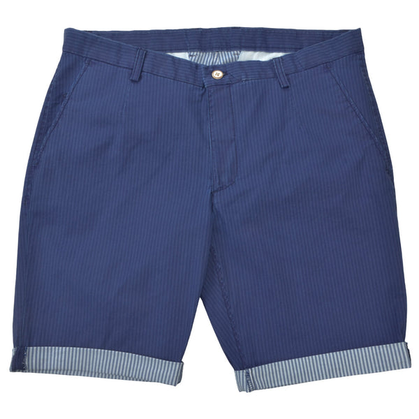 Double Face Striped Blue Shorts