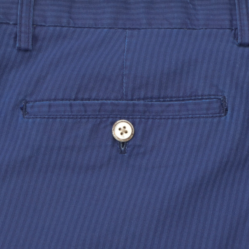 Double Face Striped Blue Shorts - Gagliardi