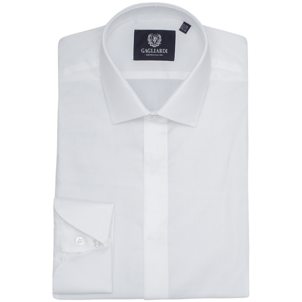 White Plain Slim Fit Classic Collar Shirt