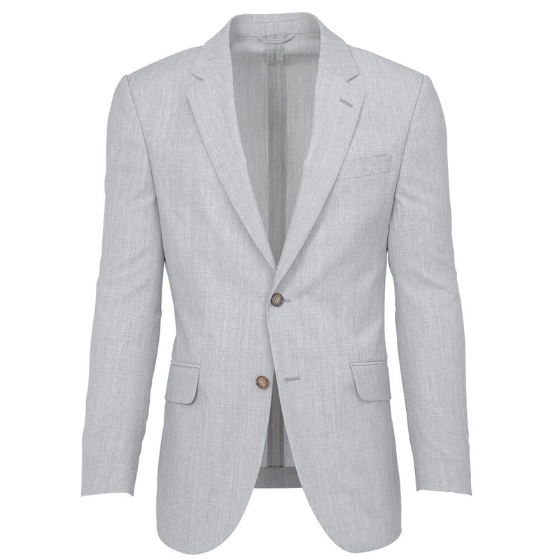 Silver Grey Cross Hatch Weave Suit - Gagliardi