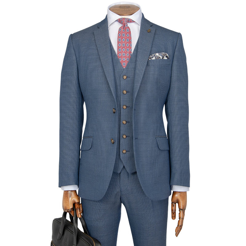 Air Force Blue Birdseye Suit - Gagliardi