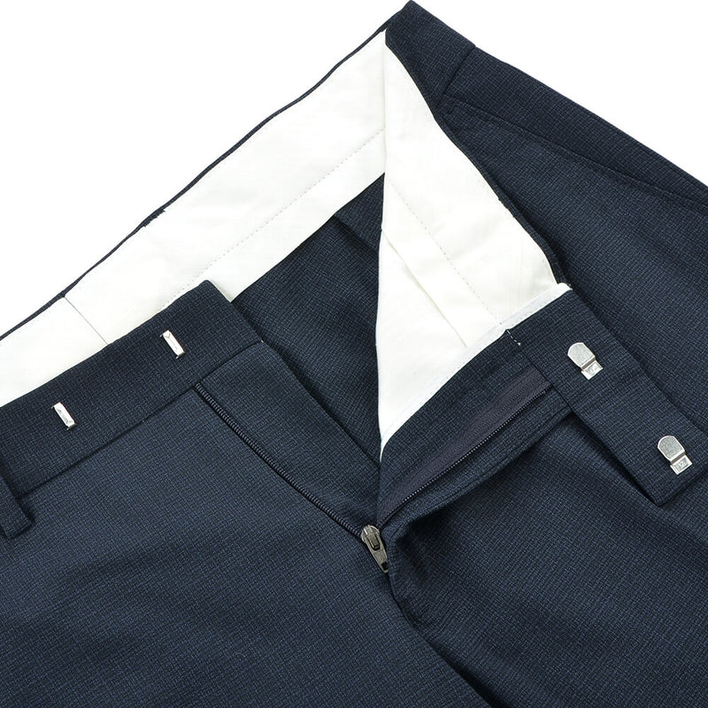 Navy Broken Micro-Check Suit - Gagliardi