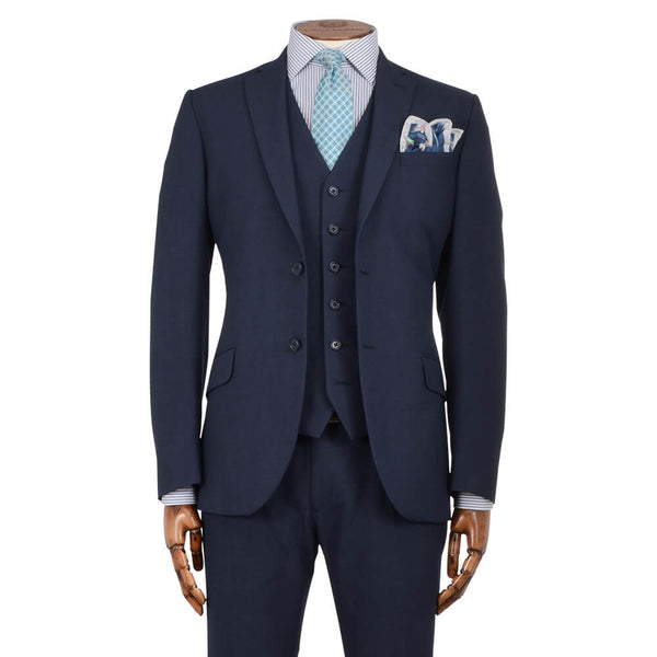 Blue Subtle Check Suit