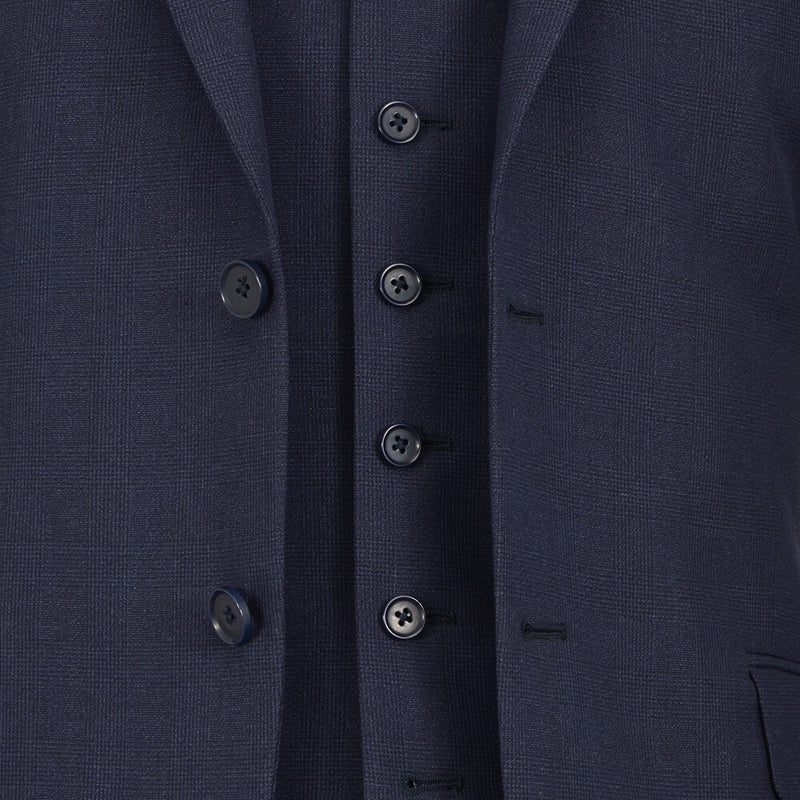 Blue Subtle Check Suit - Gagliardi