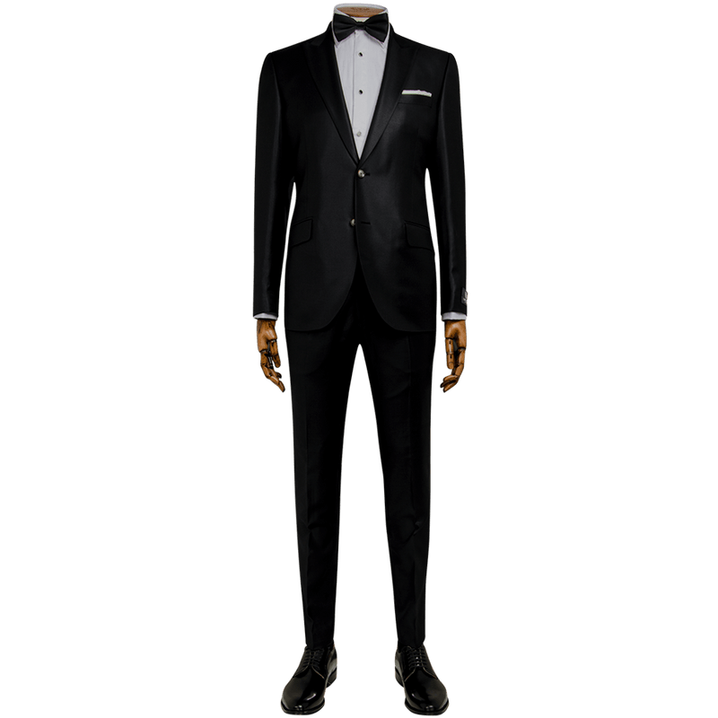 Black Diamond Weave Evening Two-Piece Tuxedo
