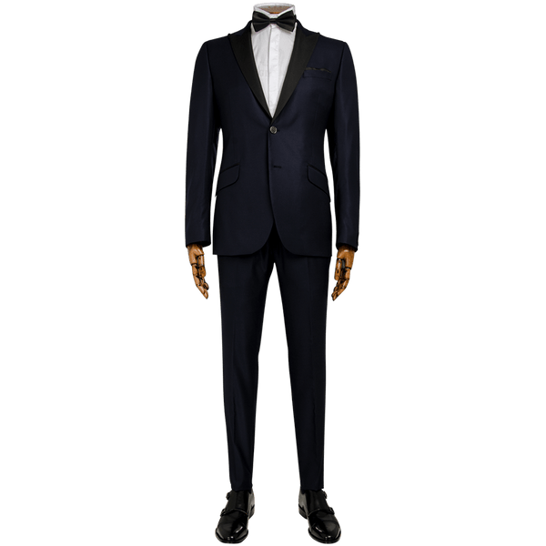 Navy Dashweave Evening Two-Piece Suit - Gagliardi