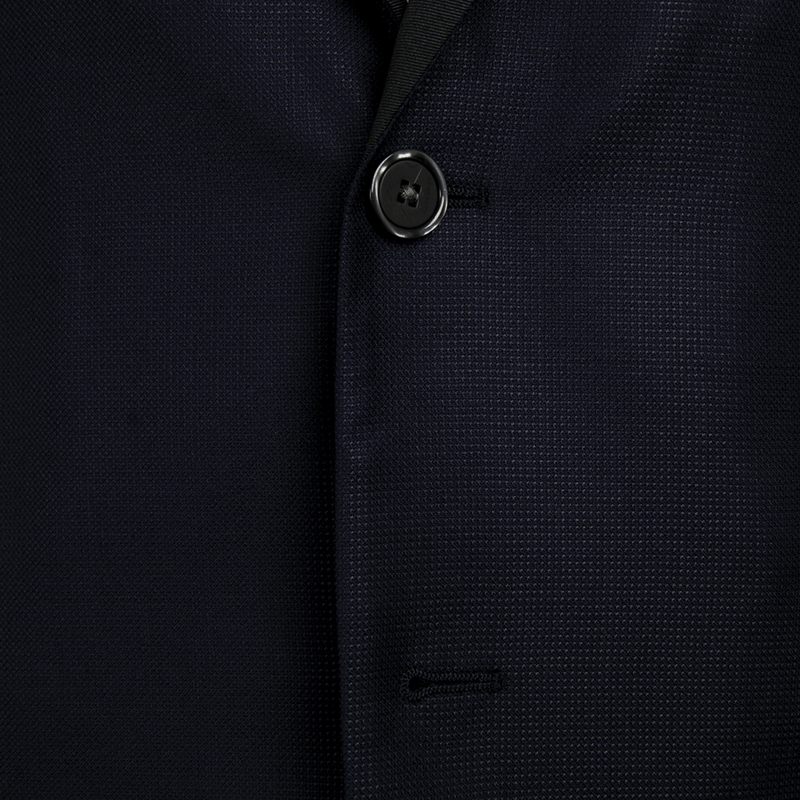 Navy Dashweave Evening Two-Piece Suit