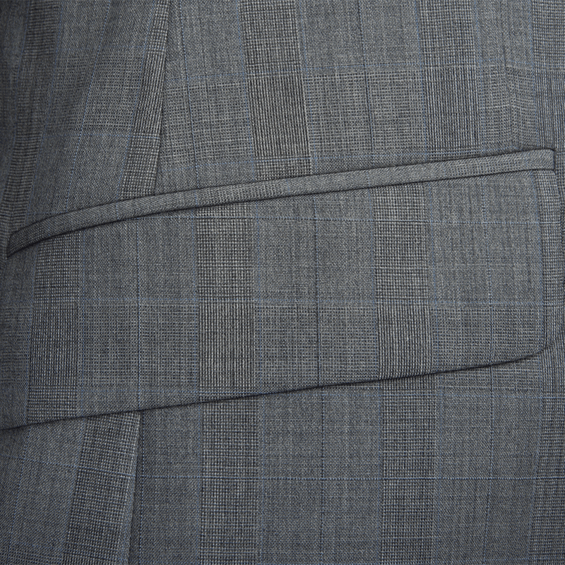 Mid Grey with Blue Stripe Two-Piece Suit