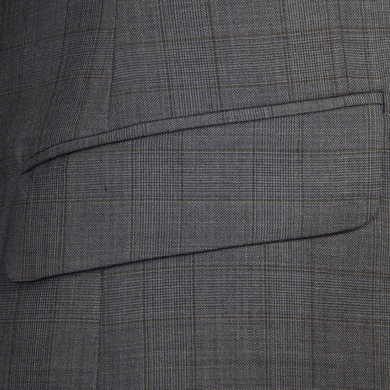 Brown & Grey Melange Overcheck Two-Piece Suit