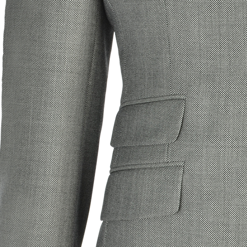 Mid Grey Birdseye Wool Two-Piece Suit