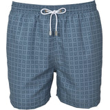 Navy Maltese Tile Print Swim Shorts - Gagliardi