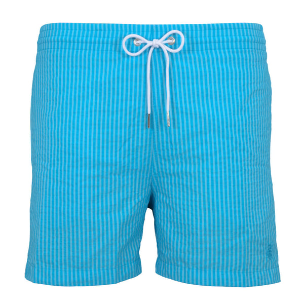 Blue Stripe Swim Shorts - Gagliardi