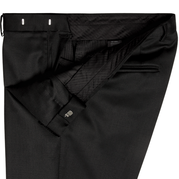 Black Plain Evening Dinner Trousers