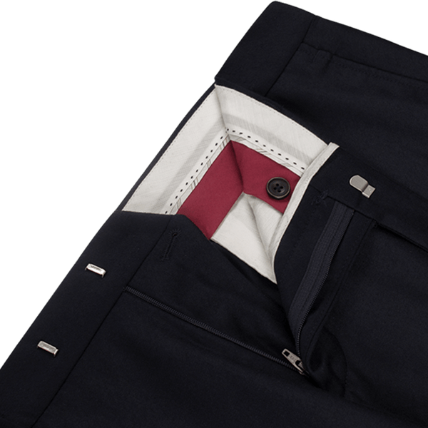 Navy Flannel Trousers - Gagliardi