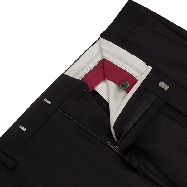 Black Flannel Trousers - Gagliardi