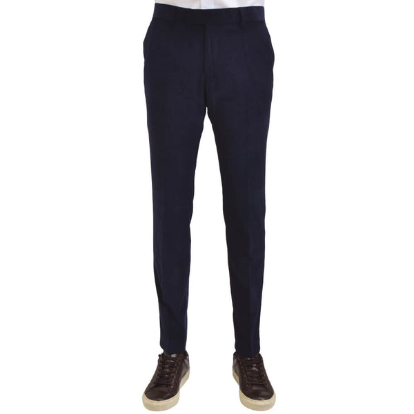 Navy Twill Cotton Trousers