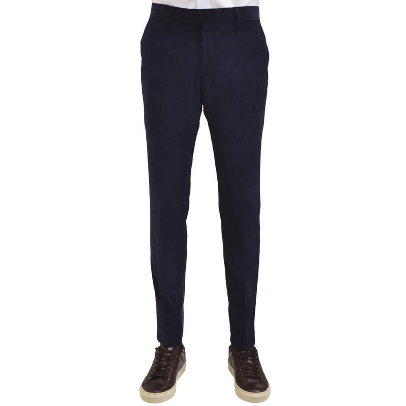 Navy Twill Cotton Trousers - Gagliardi