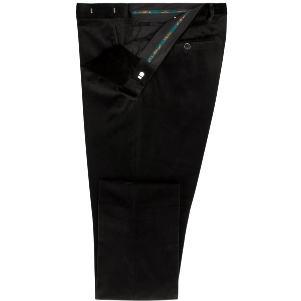 Black Velvet Dinner Trousers - Gagliardi