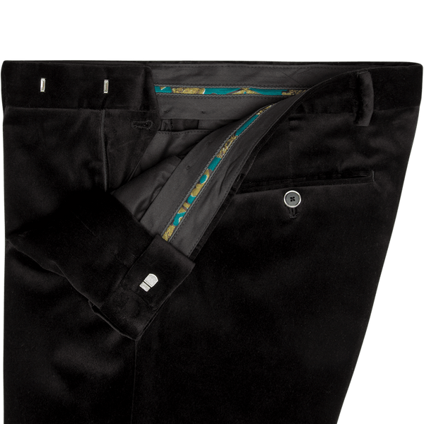 Black Velvet Dinner Trousers