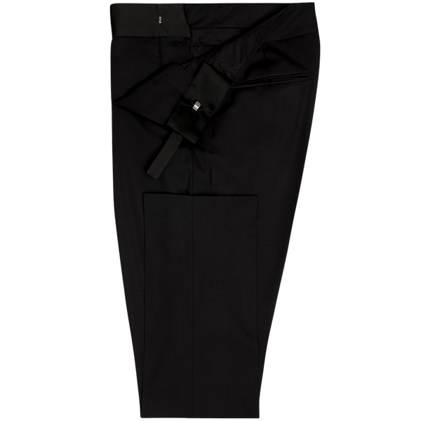Black Plain Dinner Trousers with Cummerbund
