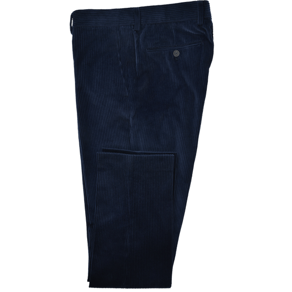 Dark Royal Blue Wide Corduroy Trousers - Gagliardi