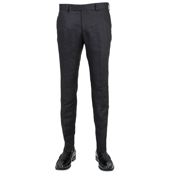 Black Linen Mix & Match Trousers - Gagliardi
