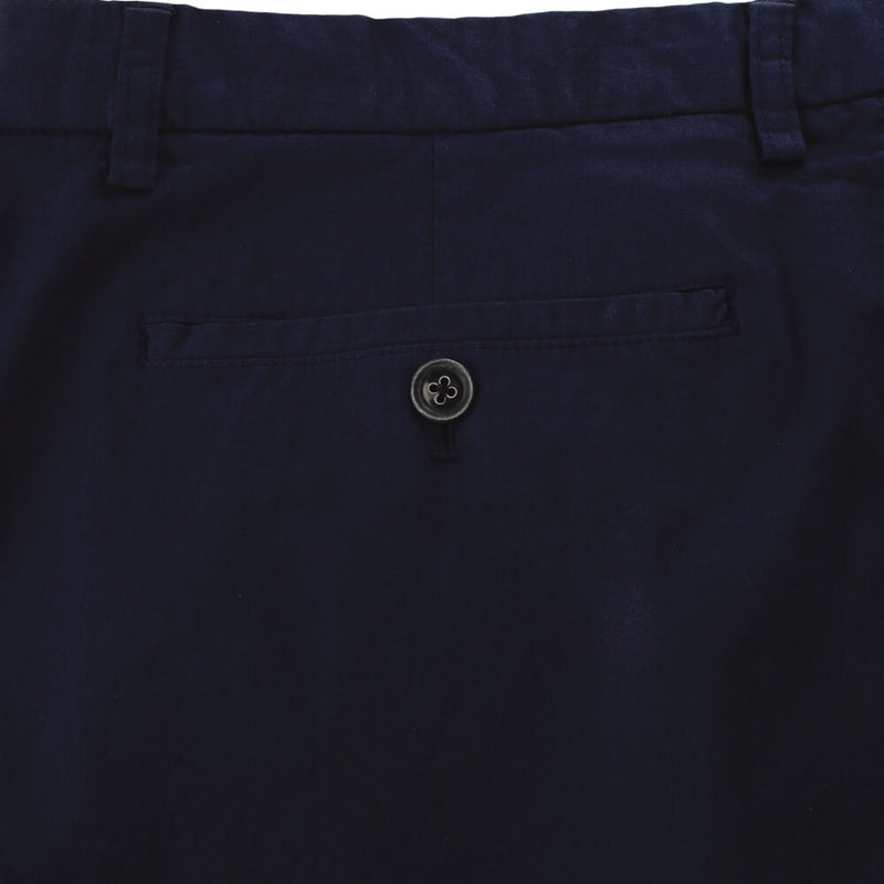 Navy Garment Dyed Cotton Trousers - Gagliardi