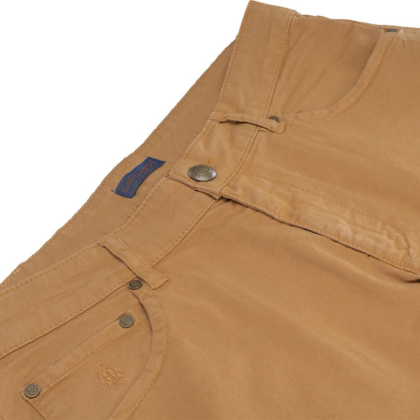 Dark Camel Five Pocket Trousers - Gagliardi