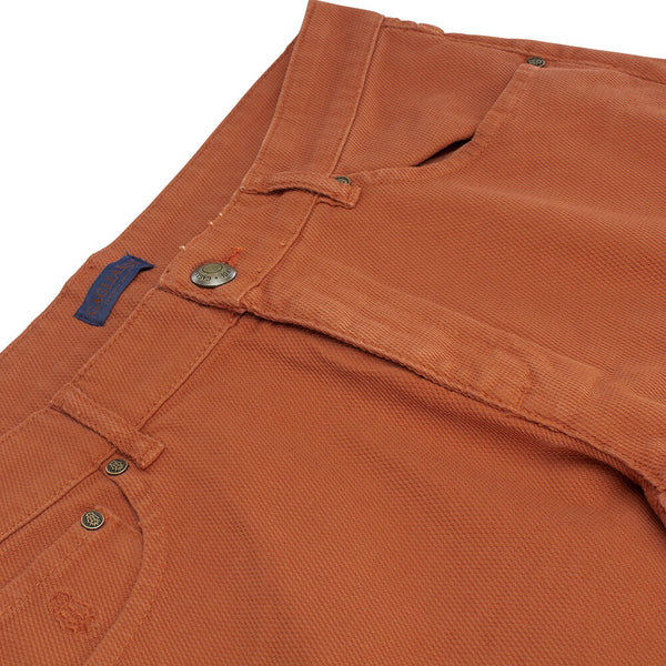 Copper Five Pocket Trousers - Gagliardi