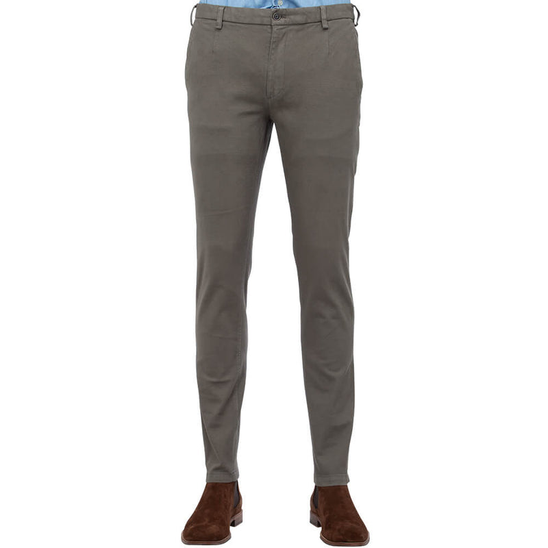 Light Brown Twill Five Pocket Trousers