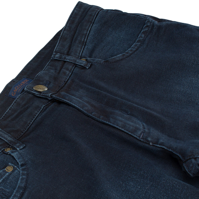 Navy Washed Jeans - Gagliardi