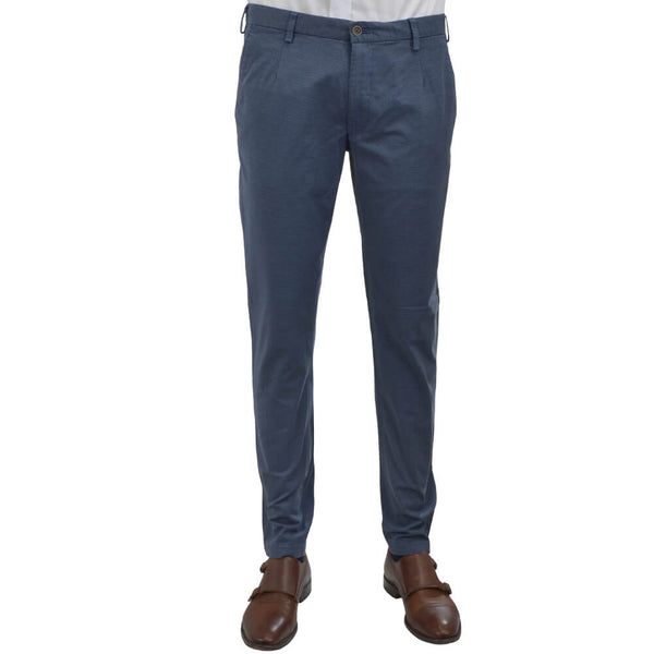 Air Force Blue Birdseye Chino Trousers