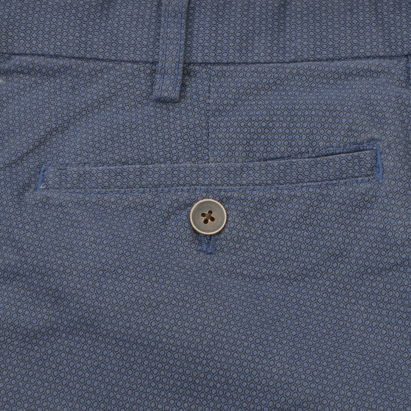 Air Force Blue Birdseye Chino Trousers - Gagliardi