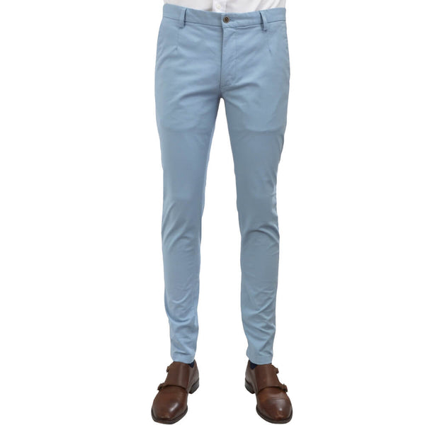 Sky Blue Microweave Chino Trousers