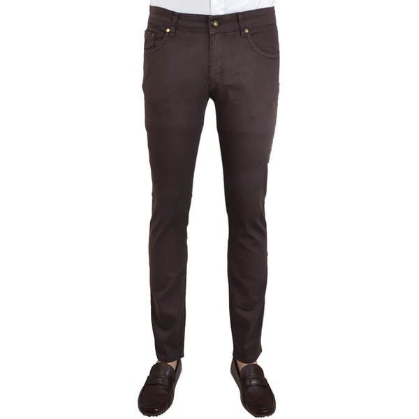 Brown Stretch Cotton Five Pocket Trousers - Gagliardi