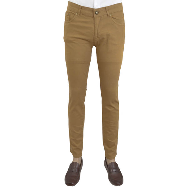 Camel Stretch Cotton Five Pocket Trousers - Gagliardi