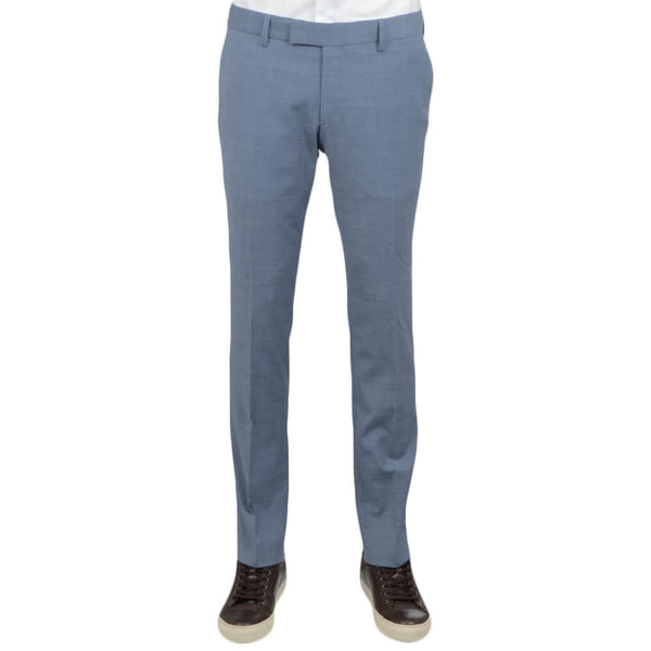 Light Blue Wool Blend Tropical Trousers