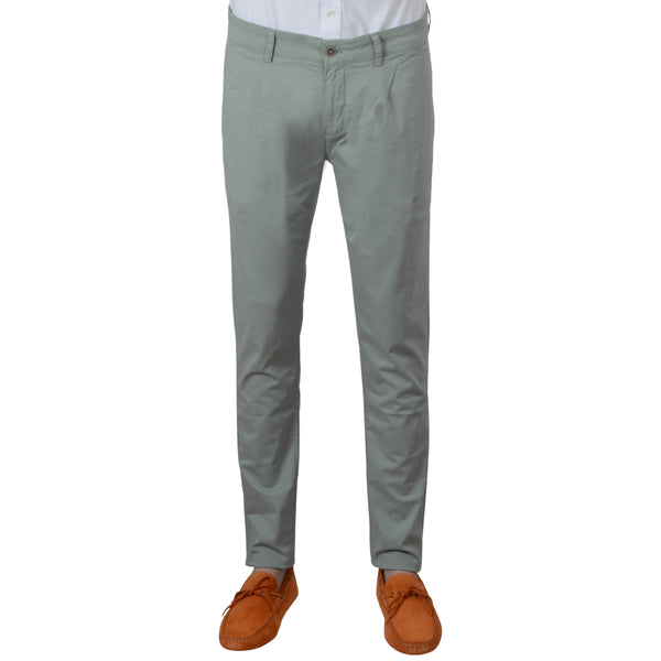 Mint Stretch Cotton Herringbone Chino