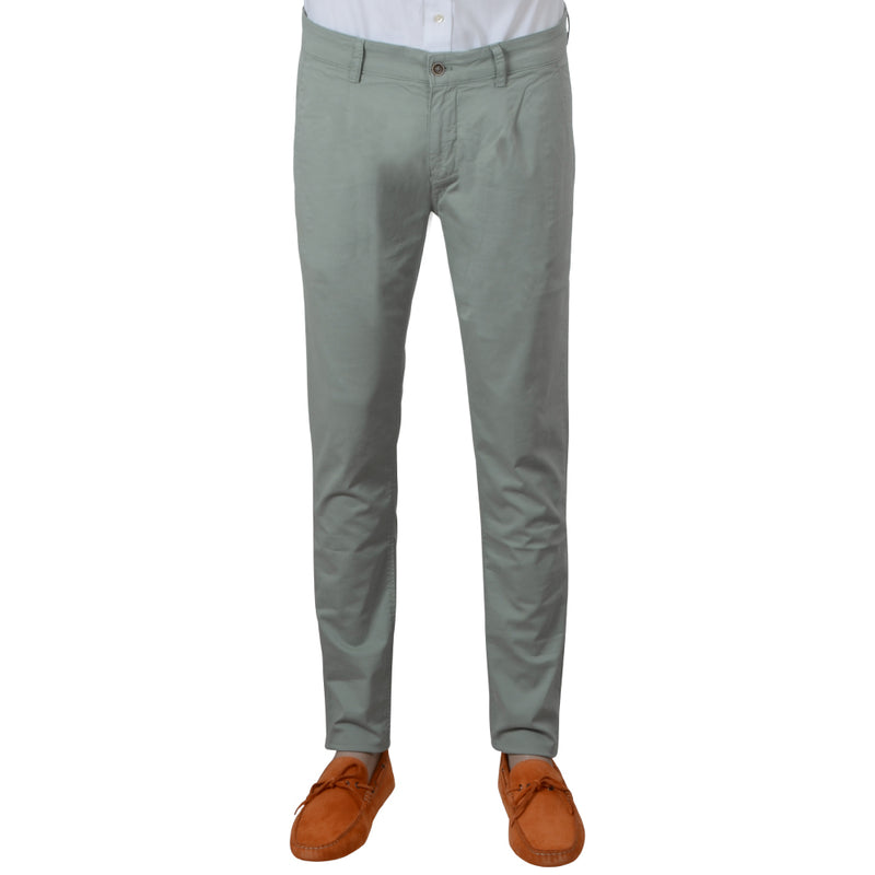 Mint Stretch Cotton Herringbone Chino - Gagliardi