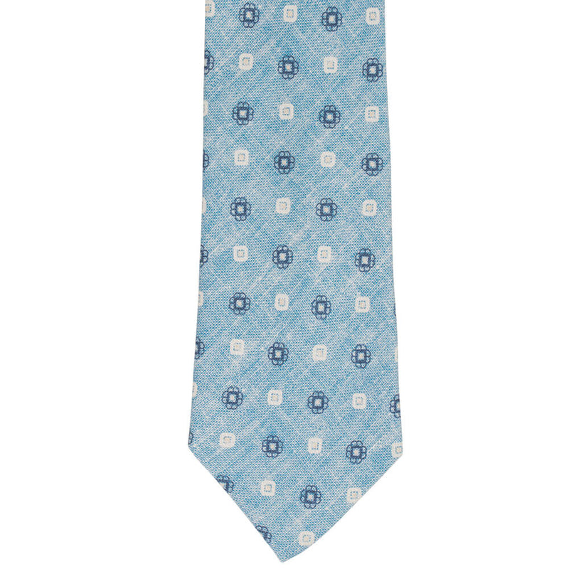 Sky With Blue Flowers Tie - Gagliardi