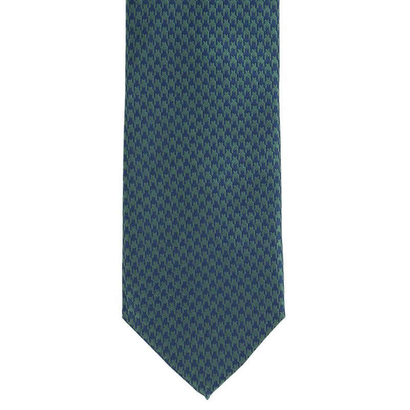 Blue And Green Dogstooth Tie - Gagliardi