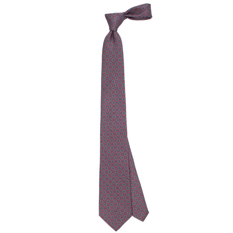 Red With Medallion Print Tie - Gagliardi