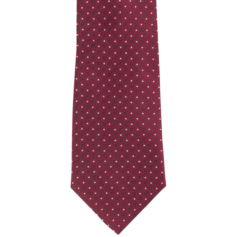 Burgundy With Red Flower Tie - Gagliardi