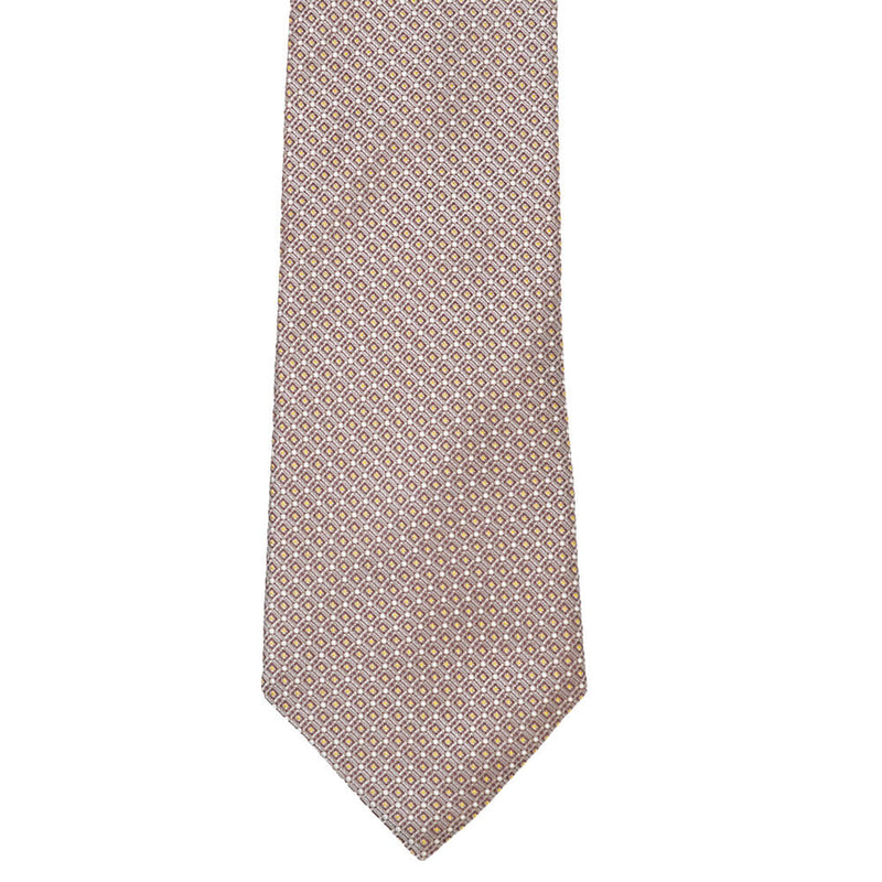 Silver Grey With Burgundy And Yellow Squares Tie - Gagliardi
