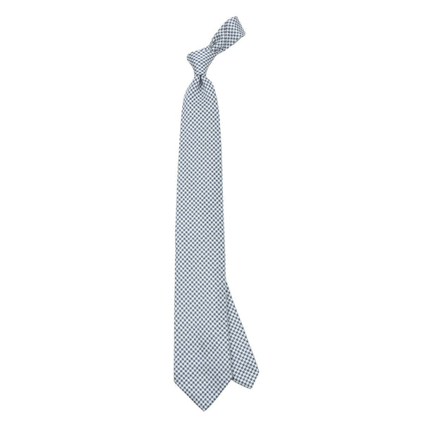 Blue With White Dogstooth Tie - Gagliardi