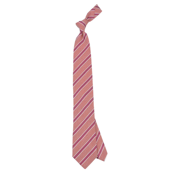 Red With Red And Navy Stripe Tie