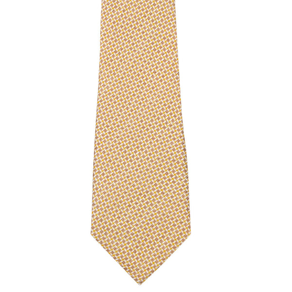 Brown Squares With Yellow Dots Tie