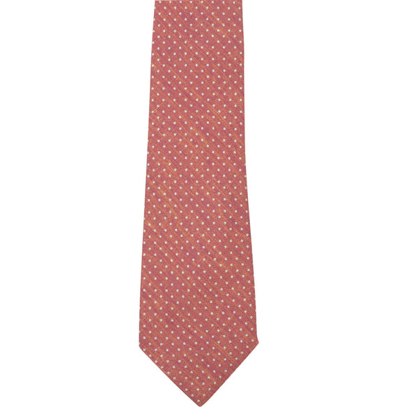 Orange With White Dots Tie