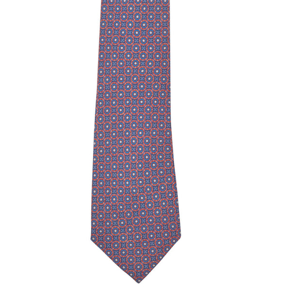 Red With Blue Circles Tie